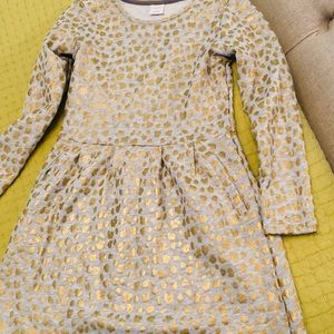 Gymboree Dress - Grey with gold accent